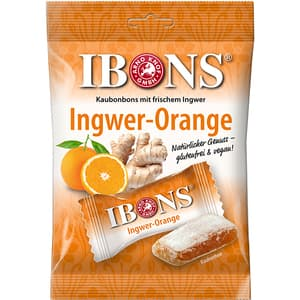 Bomboane gumate IBONS Ingwer-Orange, 92g, 4 bucati