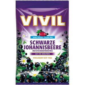 Drajeuri VIVIL coacaze negre cu vitamina C fara zahar, 60g, 6 bucati