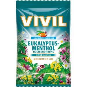 Drajeuri VIVIL eucalipt si mentol fara zahar, 60g, 6 bucati