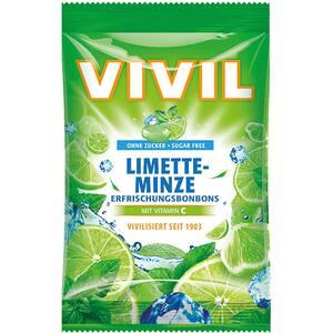 Drajeuri VIVIL lime si menta cu vitamina C, 80g, 6 bucati