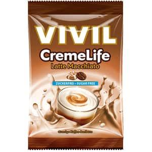 Drajeuri VIVIL Creme Life latte macchiato fara zahar, 110g, 4 bucati