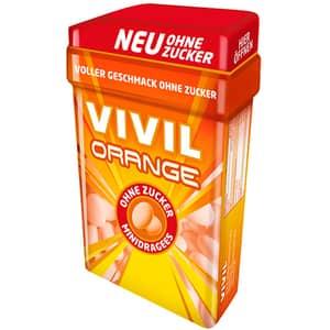 Minidrajeuri VIVIL portocala, 49g, 4 bucati