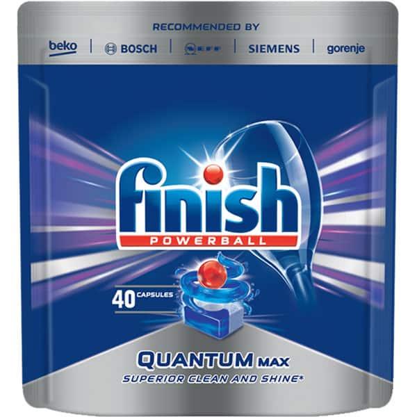 Detergent vase pentru masina de spalat vase FINISH Quantum, 40 tablete