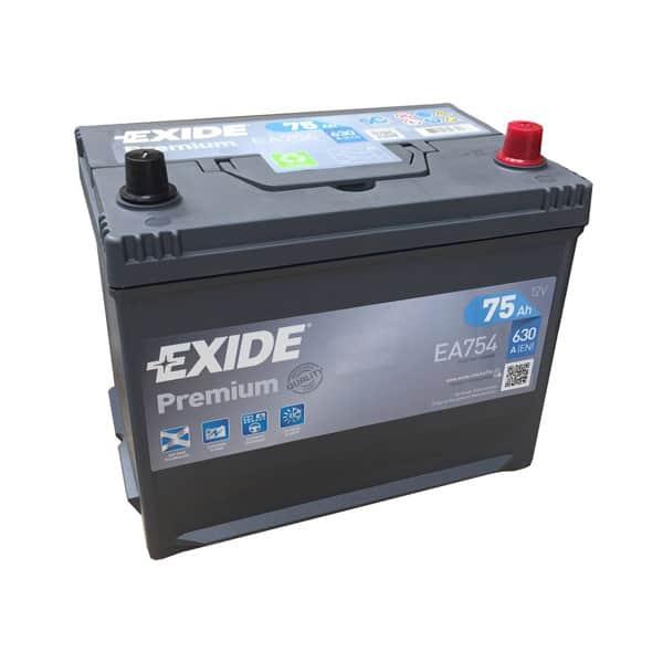 Baterie auto EXIDE Asia Premium, 12V, 75Ah, 630A