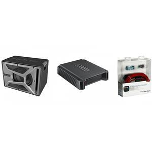 Pachet Subwoofer auto HERTZ EBX 300.5 + Amplificator HCP1D + kit cabluri FPK 700