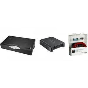 Pachet Subwoofer auto HERTZ EBX F20.5 + Amplificator HCP2 + kit cabluri FPK 700