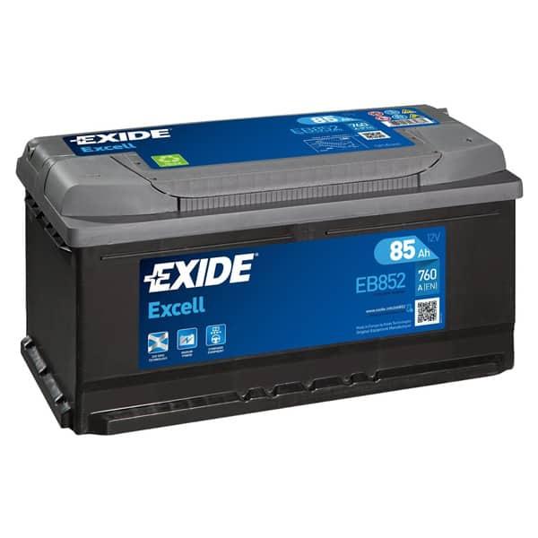 Baterie auto EXIDE Excell, 12V, 85Ah, 760A