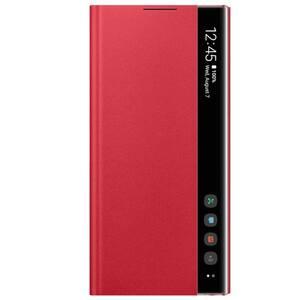 Husa Clear View pentru SAMSUNG Galaxy Note 10, EF-ZN970CREGWW, rosu