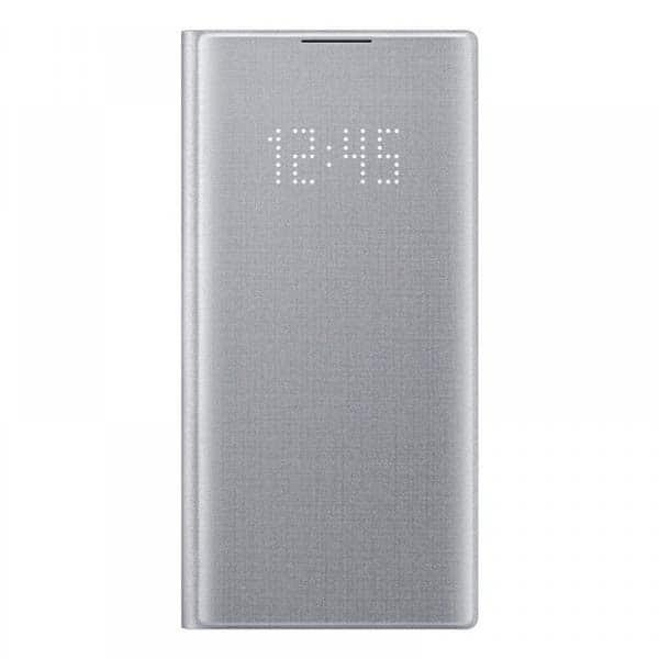 Husa Clear View pentru SAMSUNG Galaxy Note 10, EF-NN970PSEGWW, gri