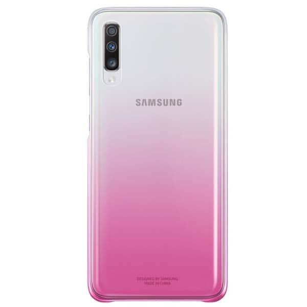 Carcasa Gradation Cover pentru SAMSUNG Galaxy A70, EFAA705CPEGWW, roz