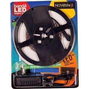 Banda LED cu alimentator NOVELITE EL0036269, 4.8W, 252 lumeni, 5m