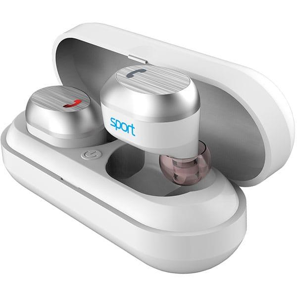 Casti ELARI NanoPods Sport, True Wireless, Bluetooth, In-Ear, Microfon Noise Cancelling, Waterproof, alb
