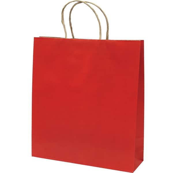 Punga cadou EUROCOM, 35 x 26 x 8 cm, carton, rosu