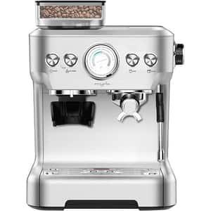 Espressor semi-automat MYRIA MY4446, 2.7l, 1620W, 20 bar, argintiu-negru