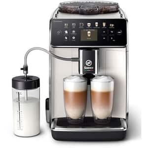 Espressor automat SAECO GranAroma SM6580/20, 1.8l, 1500W, 15 bar, alb-negru