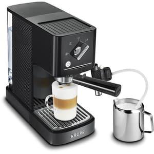 Espressor manual KRUPS Calvi Latte XP345810, 1l, 15 bar, acesoriu cappuccino, negru