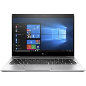 "Laptop HP EliteBook 840 G6, Intel Core i5-8265U pana la 3.9GHz, 14"" Full HD, 8GB, SSD 256GB, Intel UHD Graphics, Windows 10 Pro, argintiu"