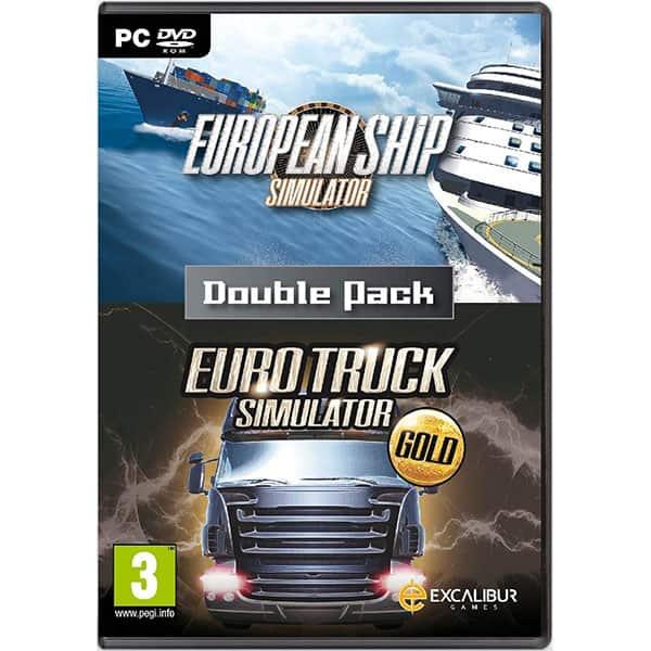 Pachet 2 jocuri Euro Truck Simulator Gold - European Ship Simulator PC