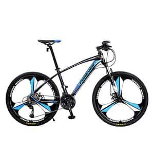 """Biciclata Mountain Bike-HT FOREVER F26R1B, 26"""", cadru aluminiu, negru-albastru"""