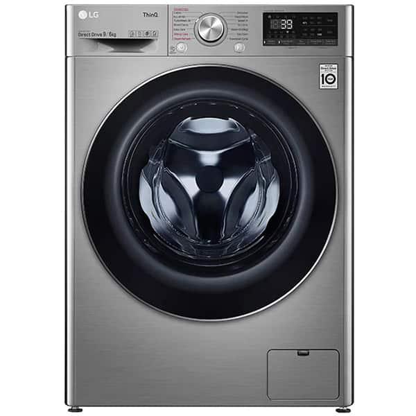 Masina de spalat rufe frontala cu uscator LG F4DV709S2TE, Steam+, Wi-Fi, 9/6 kg, 1400rpm, Clasa E, argintiu