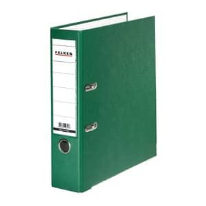 Biblioraft plastifiat/cartonat FALKEN, A4, 80 mm, verde