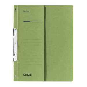 Dosar incopciat FALKEN, 1/2, A4, carton, verde