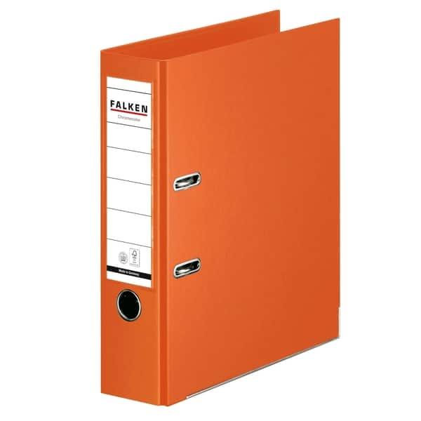 Biblioraft plastifiat FALKEN Chromcolor, A4, 80 mm, portocaliu