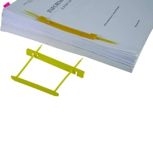 Alonje arhivare FALKEN, plastic, capacitate 500 coli, 25 bucati/um, galben