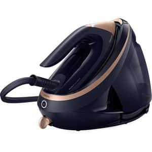 Statie de calcat PHILIPS PerfectCare PSG9050/20, 3100W, 750g/min, 1.8l, talpa SteamGlide Elite, negru-auriu