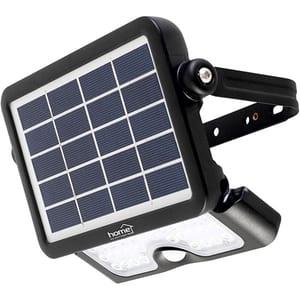 Proiector LED cu panou solar si senzor de miscare HOME FLP 500 SOLAR, 10W, 500 lumeni, negru