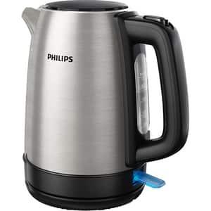 Fierbator apa Philips Daily Collection HD9350/90, 1.7l, 2200W, argintiu-negru
