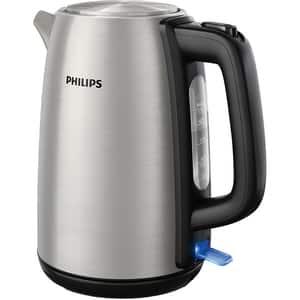 Fierbator apa Philips Daily Collection HD9351/90, 1.7l, 2200W, argintiu-negru