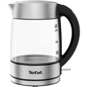 Fierbator apa TEFAL Glass KI772D38, 1.7l, 2200W, argintiu-negru