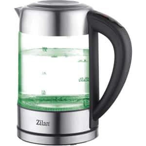 Fierbator apa ZILAN ZLN3949, 1.7l, 2200W, argintiu-negru