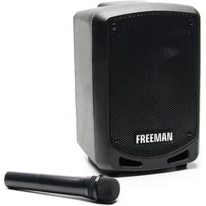 Boxa portabila cu microfon wireless FREEMAN Karaoke 1001 Mini, Bluetooth, USB, Radio FM, negru