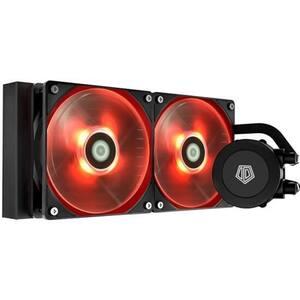 Cooler procesor cu racire lichida ID-COOLING Frostflow 240 Red, 2x120mm