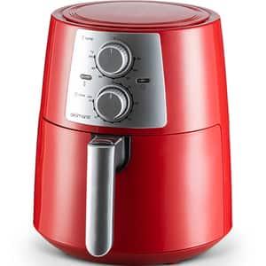 Friteuza cu aer cald DELIMANO 110000000, 3.5l, 1400W, rosu-negru