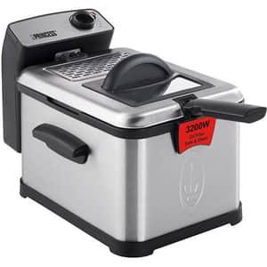 Friteuza PRINCESS Superior 118300101050, 3l, 3200W, 190 grade, argintiu-negru