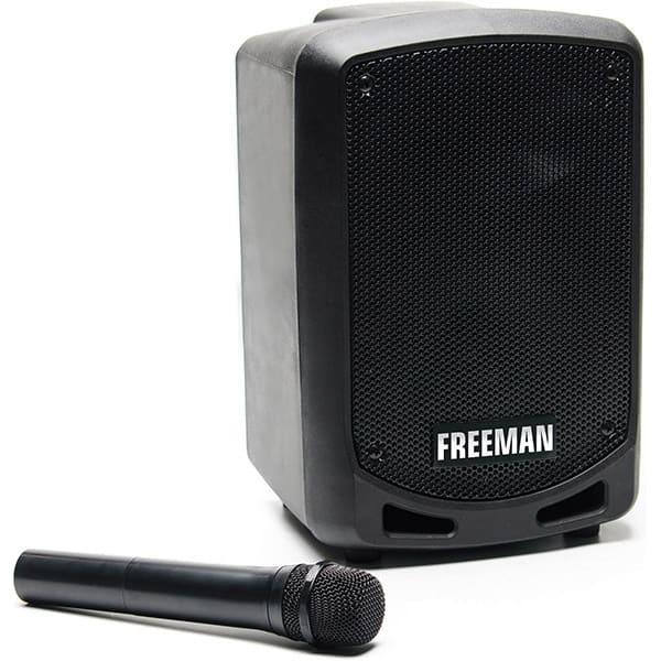Boxa portabila cu microfon wireless FREEMAN Karaoke 1001 Mini, Bluetooth, USB, Radio FM, negru