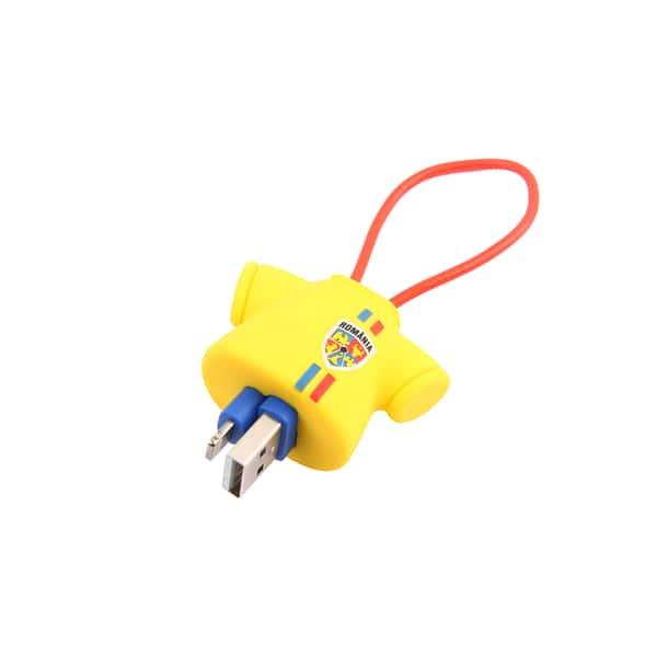 Cablu date TELLUR FRF0000016 Tricou, Lightning, 16cm, galben