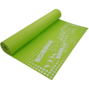 Covoras gimnastica DHS Slimfit, 173 x 61 x 0.4 cm, verde