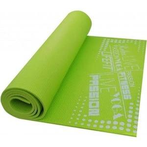 Covoras gimnastica DHS Slimfit, 173 x 58 x 0.6 cm, verde
