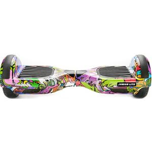 Hoverboard FREEWHEEL Junior Lite, 6.5 inch, viteza 12 km/h, motor 2 x 200W Brushless, graffiti mov