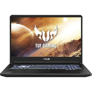 "Laptop Gaming ASUS TUF FX705DT-H7114, AMD Ryzen 5 3550H pana la 3.7GHz, 17.3"" Full HD, 16GB, SSD 512GB, NVIDIA GeForce GTX 1650 4GB, Free DOS, Stealth Black"