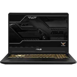 "Laptop Gaming ASUS TUF FX705DU-H7087, AMD Ryzen 7-3750H pana la 4GHz, 17.3"" Full HD, 8GB, SSD 512GB, NVIDIA GeForce GTX 1660Ti 6GB, Free DOS, Gold Steel"
