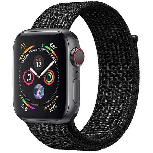 Bratara pentru Apple Watch 38mm/40mm, PROMATE Fibro-38, nylon, negru