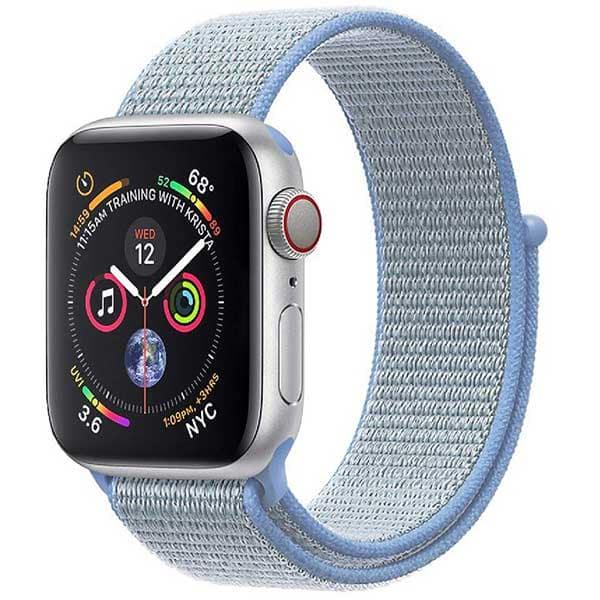 Bratara pentru Apple Watch 42mm/44mm, PROMATE Fibro-42, nylon, albastru deschis