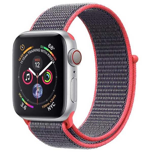 Bratara pentru Apple Watch 42mm/44mm, PROMATE Fibro-42, nylon, roz