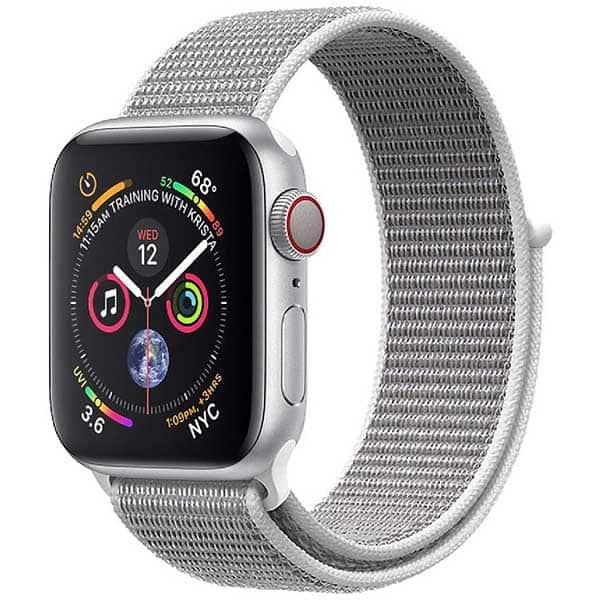 Bratara pentru Apple Watch 42mm/44mm, PROMATE Fibro-42, nylon, alb
