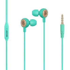 Casti PROMATE Flano, Cu Fir, In-ear, Microfon, verde